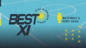 INFOGRAFIS: Best 11 Matchday 3 Euro 2020, Benzema di Depan