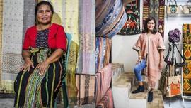 FOTO: Lembut Kain Tenun Songke khas Manggarai