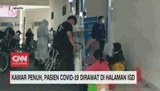 VIDEO: Kamar Penuh, Pasien Covid-19 Dirawat di Halaman IGD