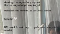 <p>Walaupun memutuskan untuk pindah rumah, nyatanya banyak netizen yang memberinya doa dan kata-kata manis, Bunda. (Foto: Instagram Larissa Chou)</p>