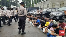Polisi Tangkap 26 Anak Saat Sidang Vonis Rizieq Shihab