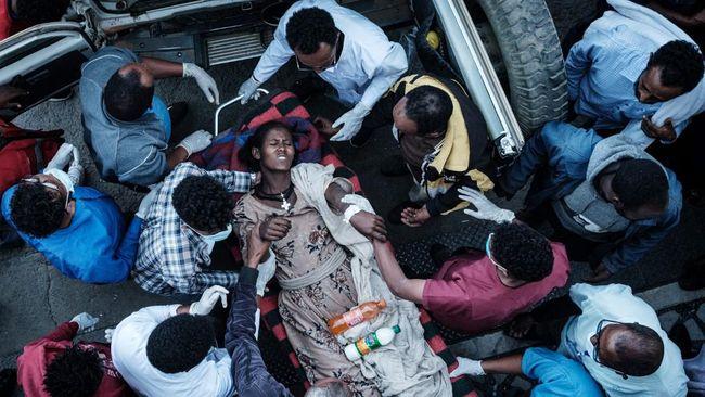 Setidaknya 64 orang tewas akibat serangan udara pasukan Ethiopia ke salah satu pasar di kawasan Tigray pada Kamis (24/6).