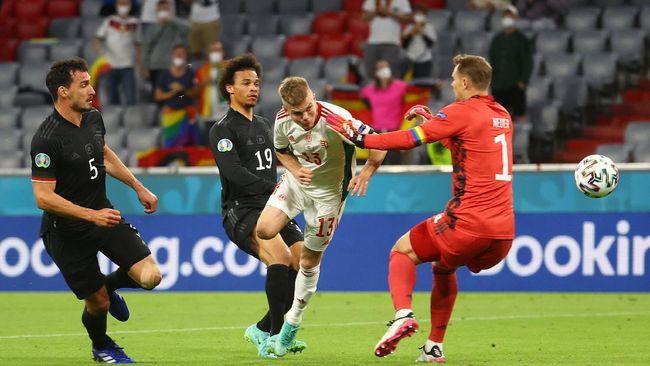 Hungaria mampu menahan Jerman 2-2 dalam pertandingan terakhir Grup F Euro 2020 (Euro 2021).