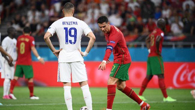 Duel Portugal vs Prancis di laga terakhir Grup F Euro 2020 (Euro 2021) sejatinya milik Cristiano Ronaldo dan Karim Benzema.