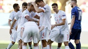FOTO: Pesta Gol Spanyol ke Gawang Slovakia di Euro 2020
