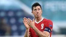 Tangis Lewandowski Usai Polandia Tersingkir dari Euro 2020