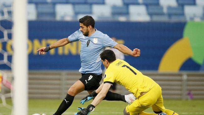 Uruguay unggul 1-0 atas Bolivia di babak pertama Copa America 2021 lewat gol bunuh diri Jairo Quinteros.
