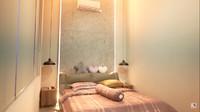 <p>Terakhir, Felicya menampilkan kamr tidurnya bersama Hito. Meski tak luas, kamar keduanya benar-benar terlihat nyaman nih, Bun. (Foto: YouTube: FELITOgether Official)</p>