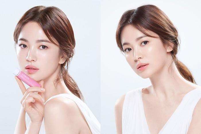 Vital Beautie juga berasal dari perusahaan yang sama dengan Sulwhasoo dan Laneige, Amore Pacific. Song Hye Kyo menjadi Brand Ambassador produk terbaru Vital Beautie yaitu Super Collagen Essence. /Sumber: apgroup.com