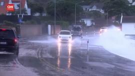 VIDEO: Selandia Baru Dihantam Gelombang Tinggi dan Hujan Es