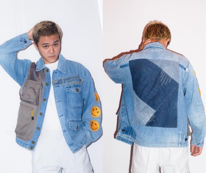Phantasma*Studio memproduksi koleksi pakaian pria dari produk upcycling. Salah satu karya dari slow fashion brand ini yakni mengombinasikan vintage worker denim dan utility vest menjadi sebuah jaket denim kekinian. (Foto: Instagram/phantasmastudio)