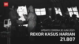 VIDEO: Kasus Harian Covid Kembali Tembus Rekor 21.807