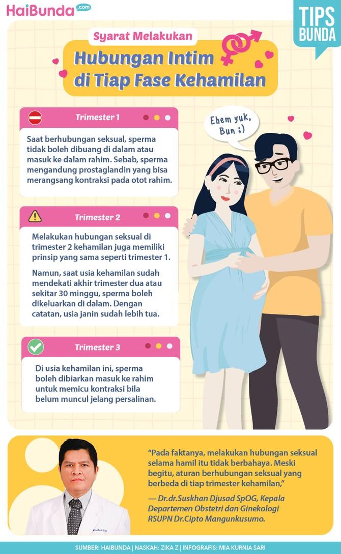 Hubungan intim saat hamil.