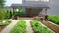 <p>Tak cuma kebun, ada pondok kecil yang diperuntukan mengumpulkan hasil panen kebun Prilly di sana, Bunda. (Foto: YouTube Prilly Latuconsina)</p>