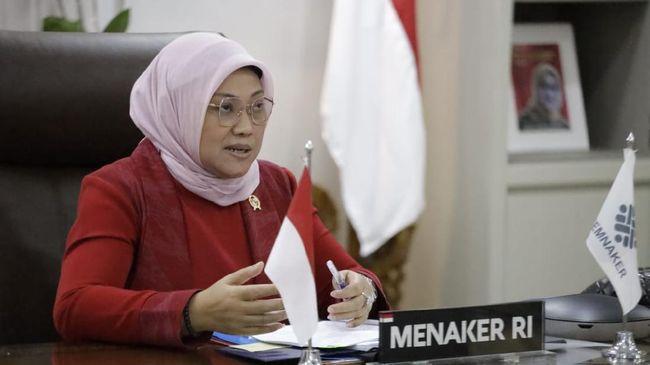 Menteri Ketenagakerjaan, Ida Fauziyah menyambut baik putusan MK yang tidak menerima gugatan (K)SBSI terkait UU Cipta Kerja Klaster Ketenagakerjaan.