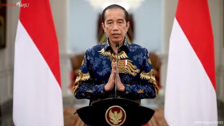 Keterangan Pers Presiden Joko WidodoI terkait PPKM Darurat, Istana Merdeka, 1 Juli 2021. (Tangkapan Layar Sekretariat Presiden)