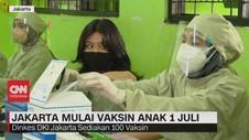 VIDEO: Jakarta Mulai Vaksin Anak 1 Juli