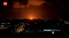 VIDEO: Israel Serang Situs Penting Hamas, Satu Orang Terluka