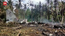 VIDEO: Detik-detik Usai Kecelakan Pesawat Militer Filipina