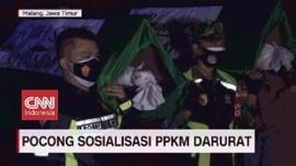VIDEO: Ajak Pocong Dalam Sosialisasi PPKM Darurat