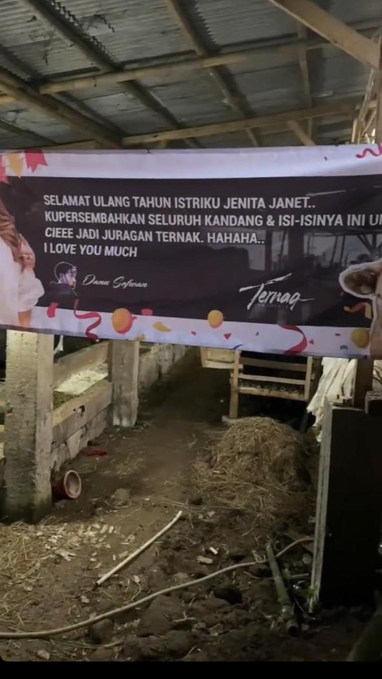 Detik-detik Jenita Janet Menangis Terharu Saat Diberi Kado Peternakan Oleh Suami