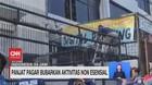 VIDEO: Panjat Pagar Bubarkan Aktivitas Non Esensial