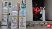 Suplai Oksigen Pemerintah Pusat ke DIY Baru 30 Ton Sehari