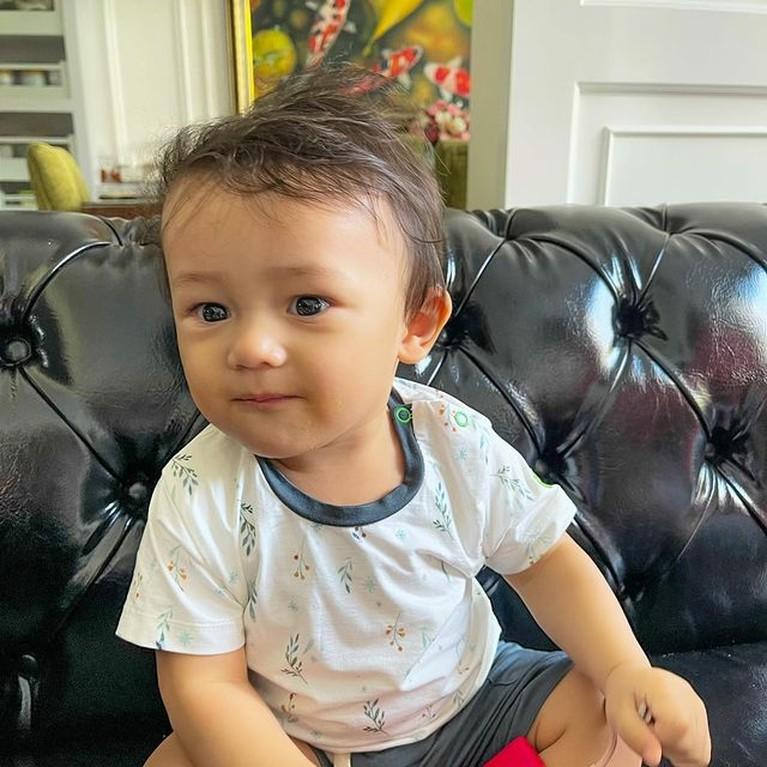 Potret Tampan Baby Saka Putra Ussy Sulistiawaty, Si Tampan Vincenzo Cilik
