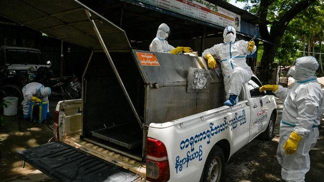 PBB menilai Myanmar berisiko menjadi negara 'penyebar super Covid-19' di Asia Tenggara menyusul infeksi virus corona yang terus melonjak di negara itu.