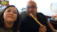 <p>Meski sangat singkat, Maia Estianty dan Irwan Mussry sangat meyukai liburan mereka di Bali. Keduanya kembali ke Jakarta naik pesawat usai melakukan antigen. (Foto: YouTube Maia Aleldul TV)</p>