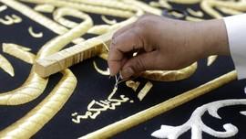FOTO: Tangan Terampil Perajut Selubung Penutup Ka'bah, Kiswah