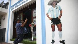 FOTO: Gereja Diego Maradona Berdiri di Meksiko