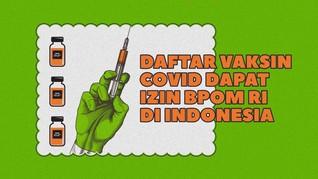INFOGRAFIS: Daftar Vaksin Covid Dapat Izin BPOM di Indonesia