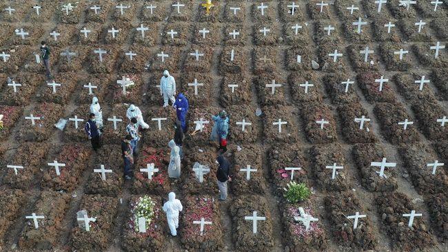 Tingkat kematian di Kalimantan Timur tertinggi yakni 13,5 per 100 ribu penduduk meninggal karena covid-19.