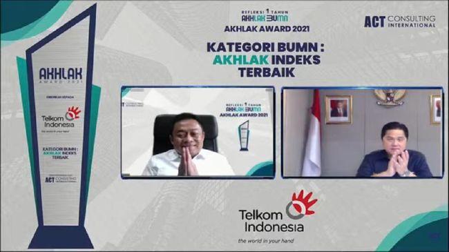 PT Telkom Indonesia Tbk (Telkom) berhasil meraih juara umum pada ajang perdana AKHLAK Award 2021 dan memborong sejumlah penghargaan.