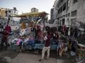 FOTO: Geliat Penduduk Jalur Gaza Sambut Iduladha