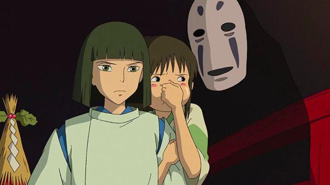 Kaonashi alias No Face salah satu makhluk gaib paling terkenal dalam film animasi Spirited Away (2001).