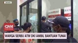VIDEO: Warga Serbu ATM DKI Ambil Bantuan Tunai