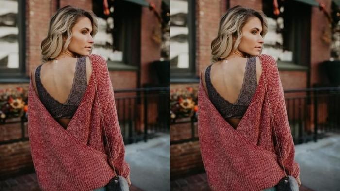 Backless Sweater + Bralette Sebagai Inner