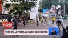 VIDEO: Demo Tolak PPKM Darurat Berakhir Ricuh