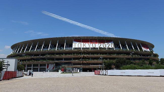 Defile Indonesia yang berisikan sepuluh orang mendapat urutan ke-22 dalam upacara pembukaan Olimpiade Tokyo 2020.