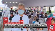 VIDEO: TNI AL Gelar Vaksinasi Massal Di Muara Gembong