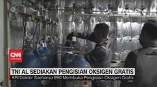 VIDEO: TNI AL Sediakan Pengisian Oksigen Gratis