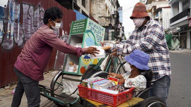 Kamboja melakukan lockdown delapan provinsi di sepanjang perbatasan Thailand guna meredam laju infeksi Covid-19 varian Delta.