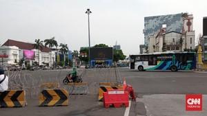 Antisipasi Demo Jokowi End Game, Jalan Sekitar Monas Ditutup