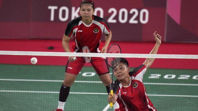 Berikut jadwal pertandingan badminton Indonesia di Olimpiade Tokyo 2020, Senin (2/8), yang akan melibatkan Greysia/Apriyani dan Anthony Ginting.