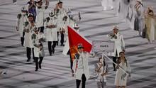 FOTO: Kirgistan-Tajikistan Tanpa Masker di Upacara Olimpiade