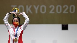 China Rebut Medali Emas Pertama Olimpiade Tokyo 2020