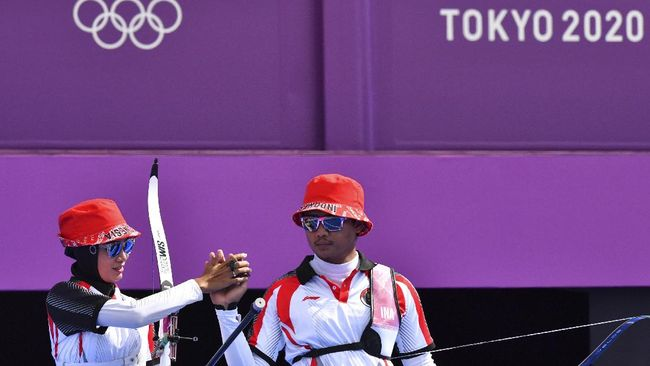 Riau Ega/Diananda Choirunisa dari Indonesia gagal lolos ke semifinal Olimpiade Tokyo 2020 setelah kalah dari Yasemin Anagoz/Mete Gazoz.