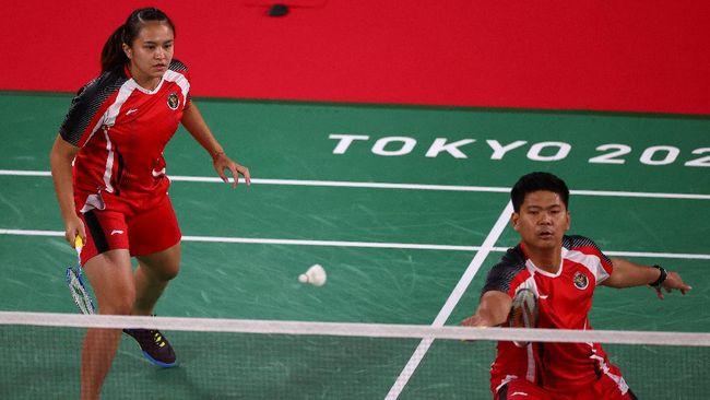 Praveen Jordan/Melati Daeva menang pada laga menegangkan Grup C Olimpiade Tokyo 2020 atas pasangan Australia Simon Wing Hang Leung/Gronya Sommerville.